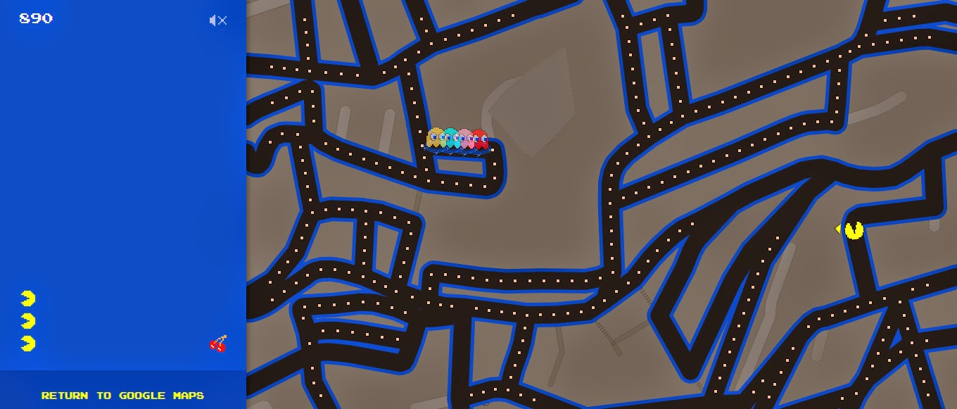 Juega Pac-Mac en Google Maps