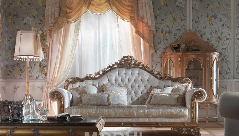 Italy gold in white Sofa for the living room