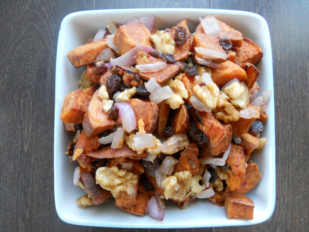 snacking squirrel yam and walnut salad. Black Bedroom Furniture Sets. Home Design Ideas