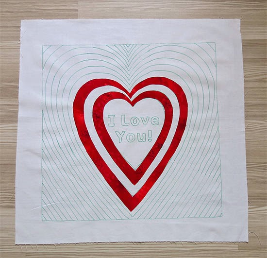 valentine's day quilt design