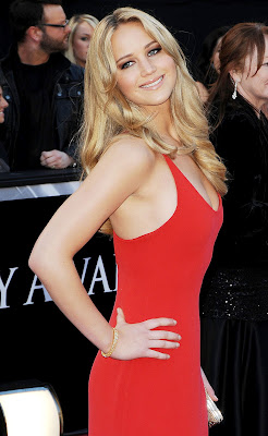 Jennifer Lawrence The Hunger Games Beautiful Red Dress