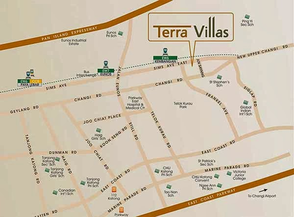 Terra Villas Location Map