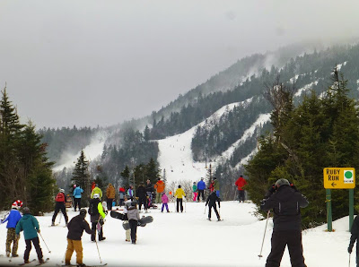 Ruby Run at Gore Mountain on Saturday, 12/27/2014.  The Saratoga Skier and Hiker, first-hand accounts of adventures in the Adirondacks and beyond, and Gore Mountain ski blog.