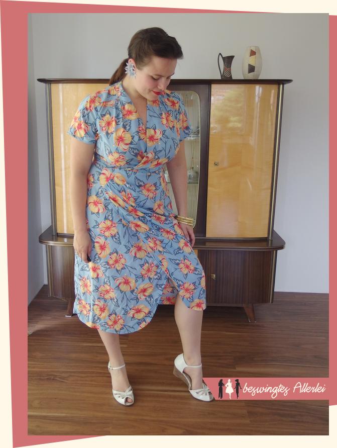 50er Jahre Kleid, Sarong, Wickelkleid, Schwabe, Der neue Schnitt, 1957