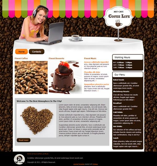Coffee Life - Free Joomla! Template