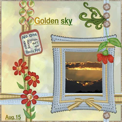 Aug.15 - Golden sky