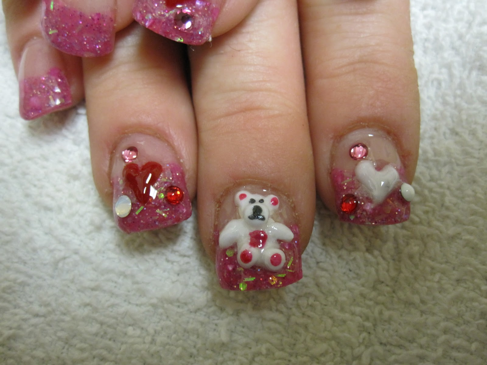 Nail art las vegas valentines day nail photos valentines day nail photos prinsesfo Images
