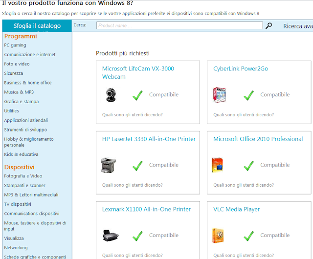 compatibilit%C3%A0 windows 8 Controllare Compatibilità PC e Programmi con Windows 8