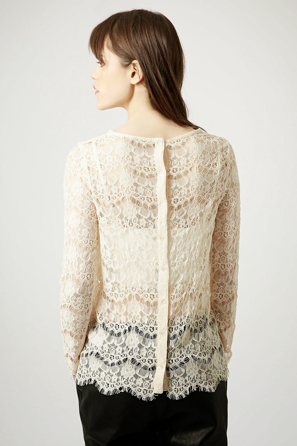 lace buttoned back top