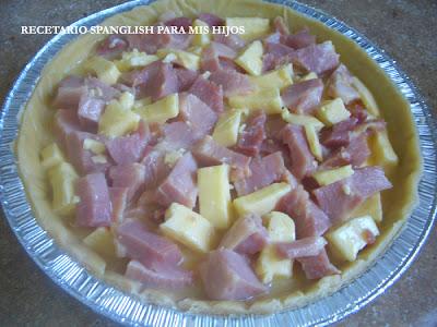 Recetario Spanglish para mis hijos: Tarta clásica de jamón y queso y ...