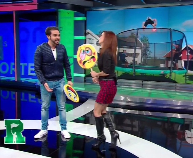 the appreciation of booted news women blog   univision u0026 39 s adriana monsalve is a good sport in