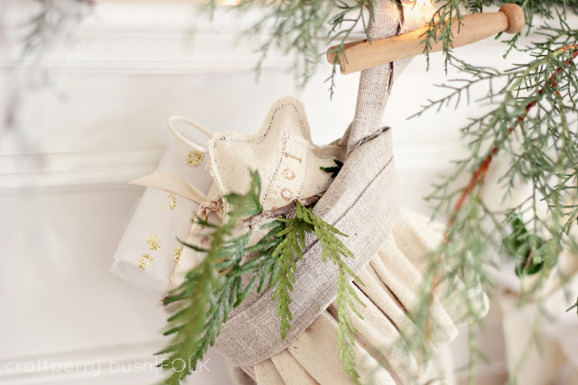Creamy and neutral Christmas mantel Craftberry Bush