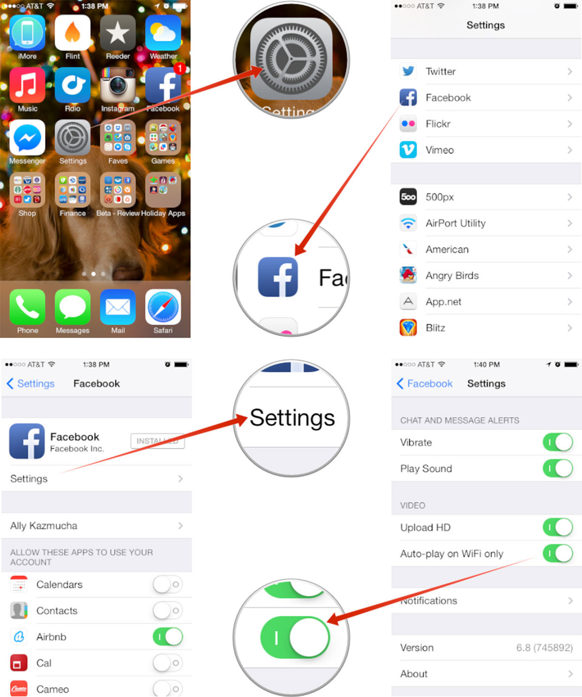 Turn off video autoplay facebook iphone 6 13