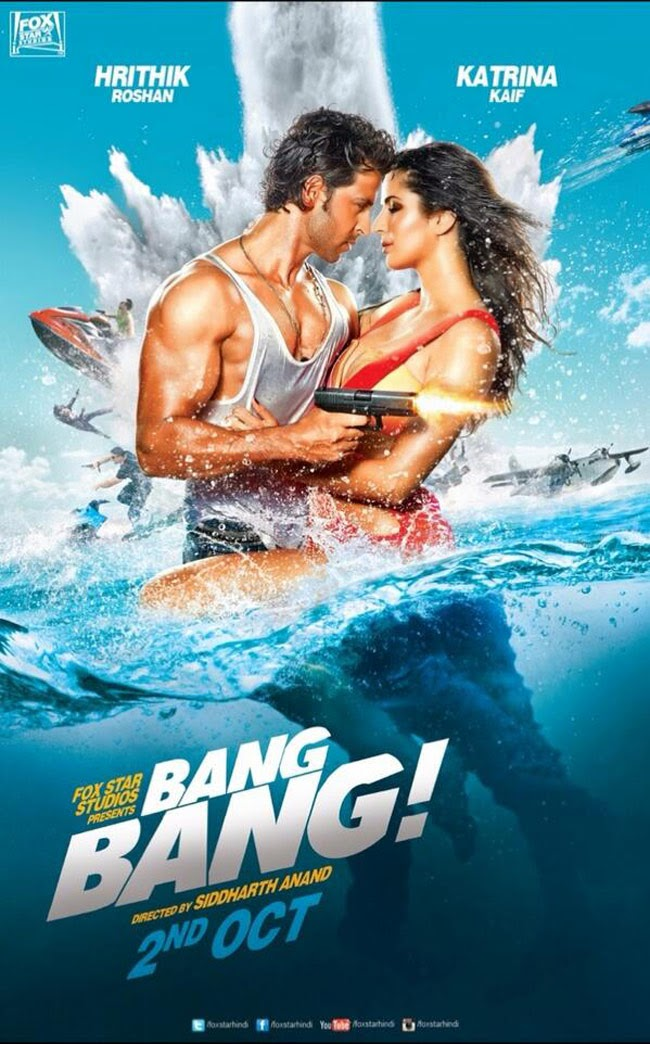 full cast and crew of bollywood movie Bang Bang! wiki, story, poster, trailer ft Hrithik Roshan, Katrina Kaif