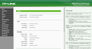 tp link menu