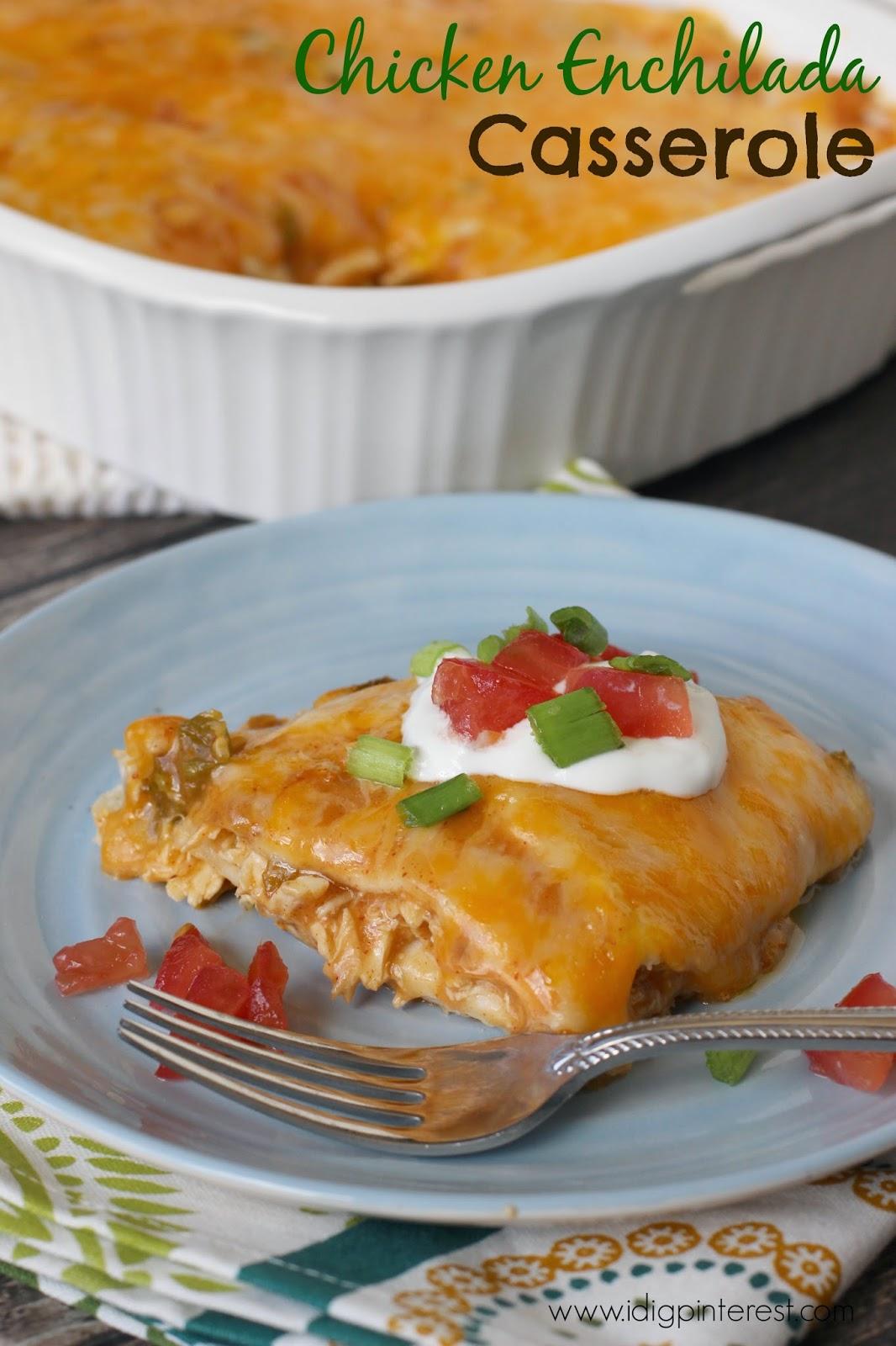 I Dig Pinterest: Easy Chicken Enchilada Casserole: Help a ...
