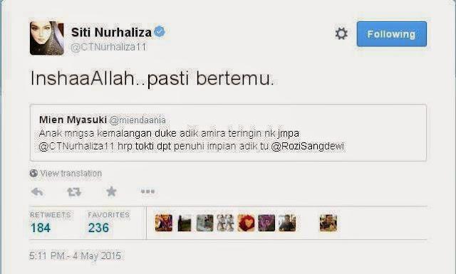 InshaaAllah Pasti Bertemu Dato Siti Nurhaliza