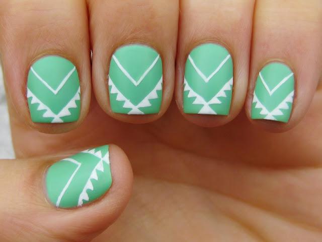 sally hansen moheato nail art