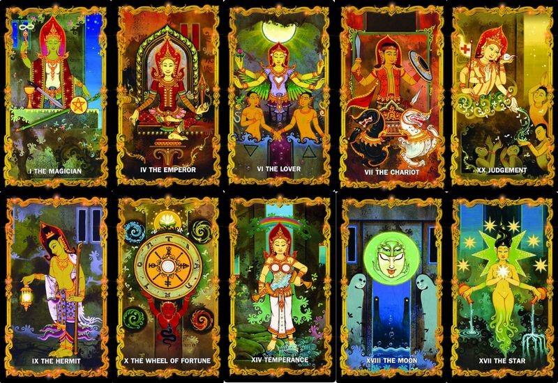 The 4 Kings Tarot Heavenly four chatumaharaja ไพ่ทาโร่ต์ไทย จตุโลกบาล จาตุมหาราชา จาตุมหาราชิกา จตุมหาราช ทาโร่ต์ ทาโรต์ ท้าวจตุโลกบาล Major cards ไพ่เมเจอร์