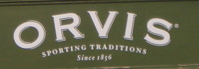 The Orvis shop sign