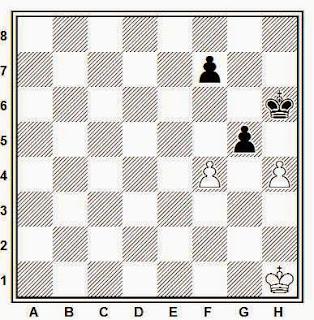 Estudio artístico de ajedrez compuesto por Hermann Mattison (Deutsches Wochenschach, 1918)
