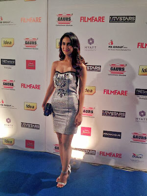 The super sexy Vaani Kapoor has arrived at the Filmfare Awards party