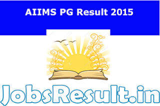 AIIMS PG Result 2015