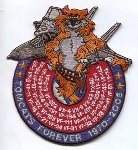 GRUMMAN F-14 TOMCAT SQUADRON LISTED FOREVER VF- NAVY FIGHTER SQUADRON PATCH