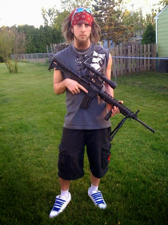 Ohio Gun Nut with his AR-15