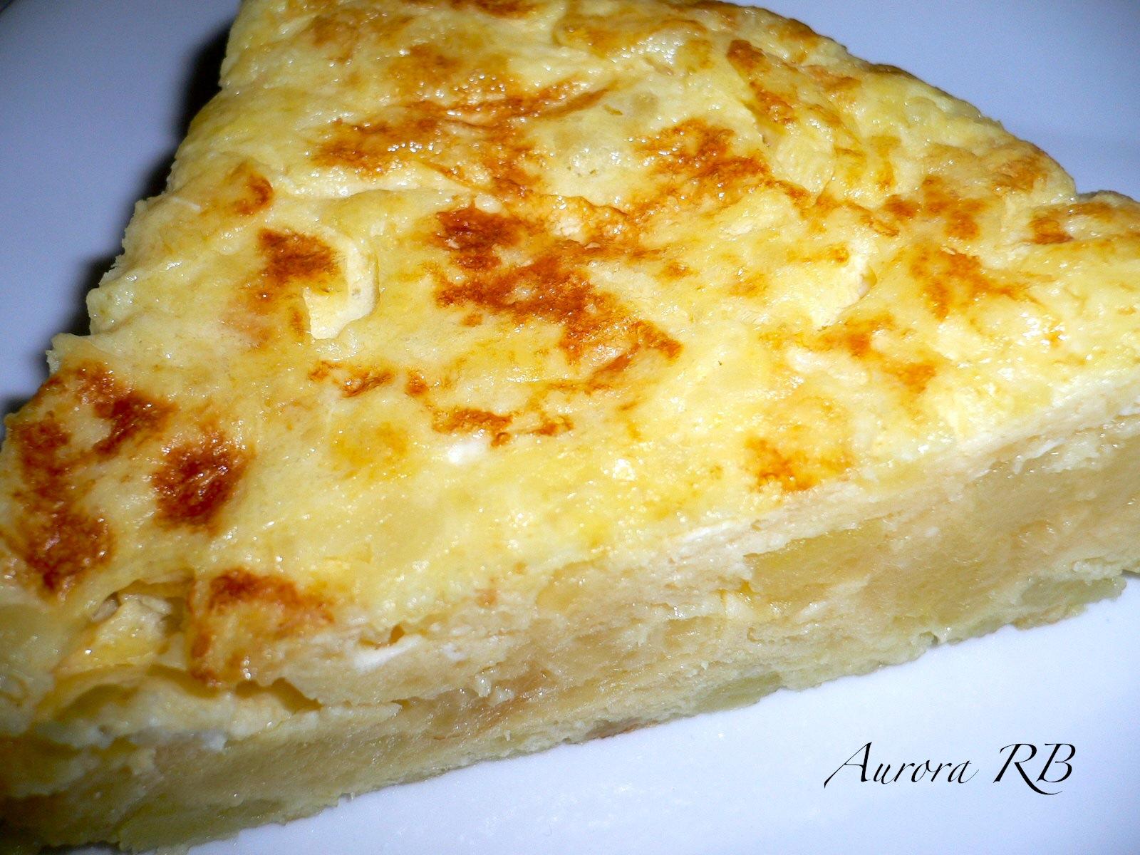 Las recetas de Aurora: Tortilla de patatas con cebolla