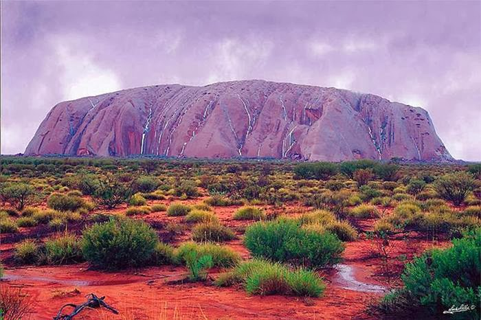 These amazing captures of waterfalls found in Uluru or Ayers Rock at Uluru-Kata Tjura National Park sure add more fascination trekking this huge Sandstone rock formation in Australia.