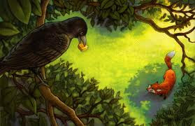 Contoh Narrative Text - The Fox and the Crow