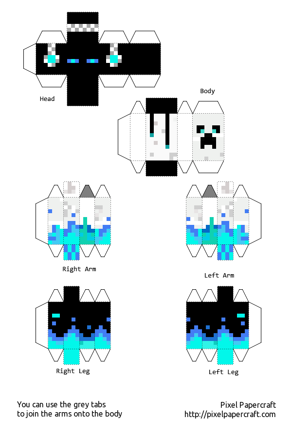 Papercraft Designs with tags skin
