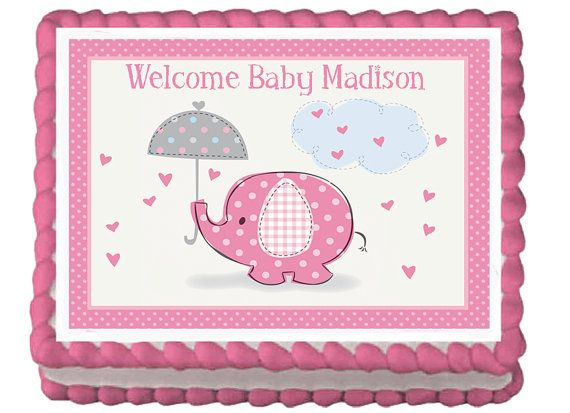 BABY SHOWER SUGAR ICING FROSTING SHEET