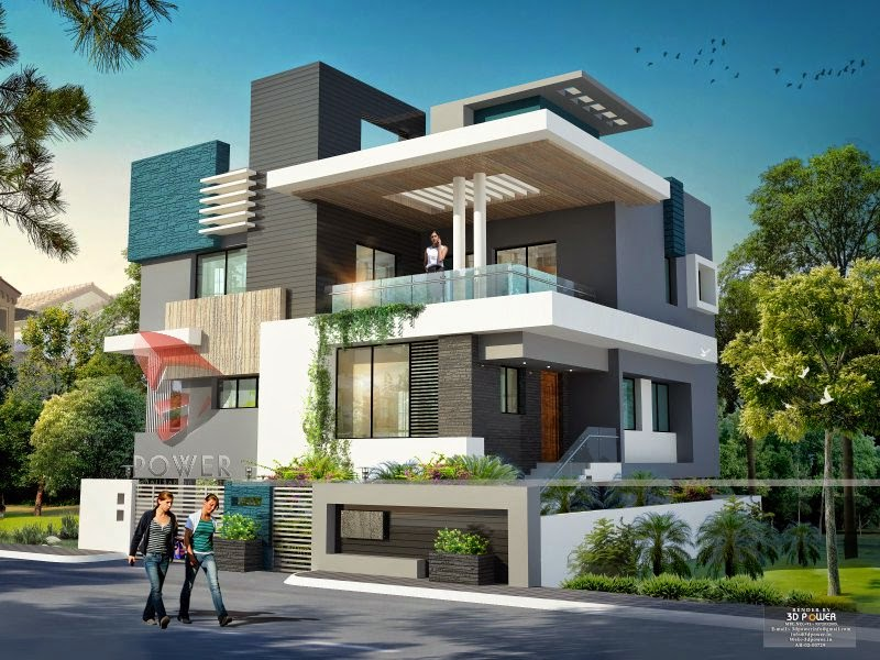 Ultra modern home designs home designs home exterior for Indian house outlook design