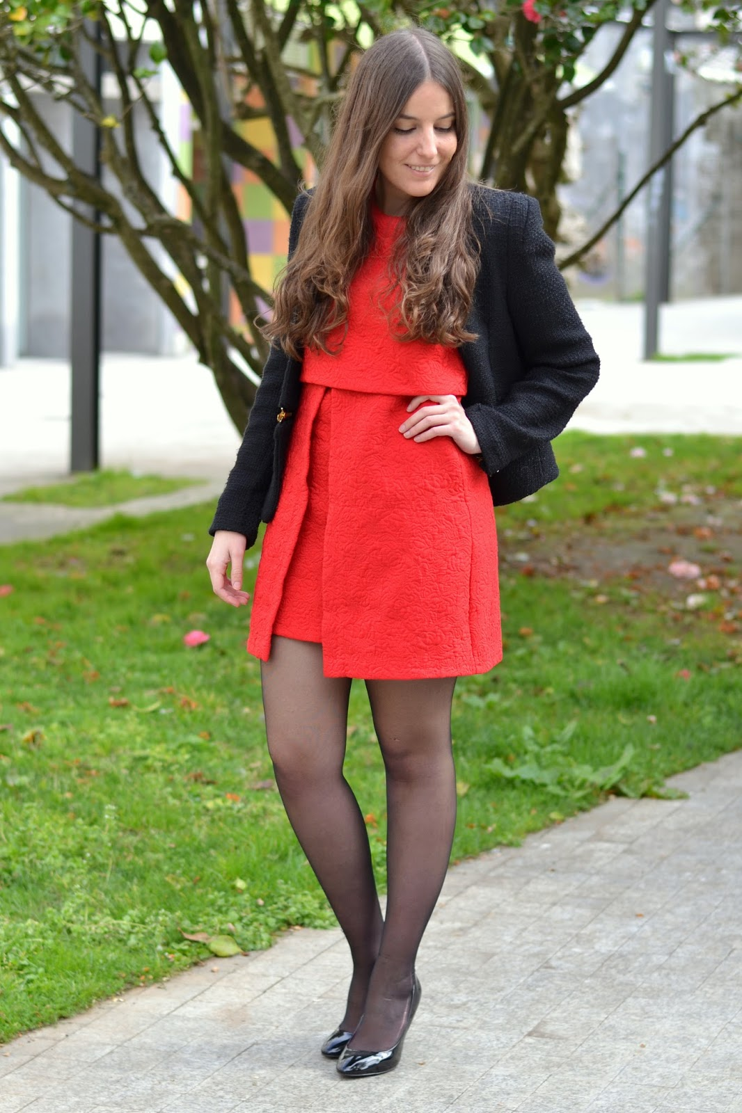 outfits red dress