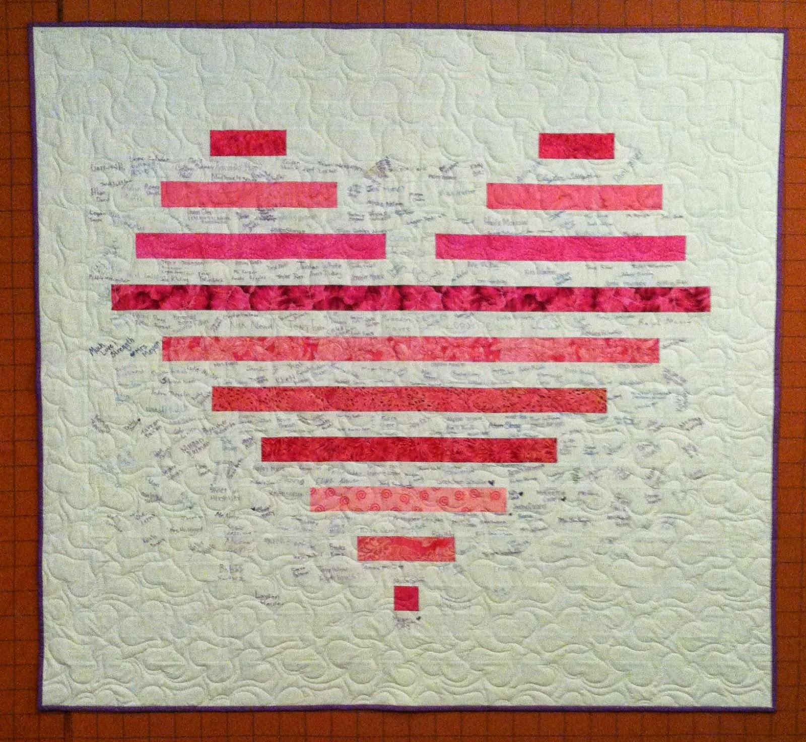 "Heart Quilt - 2.5""  strips - Signature Quilt"