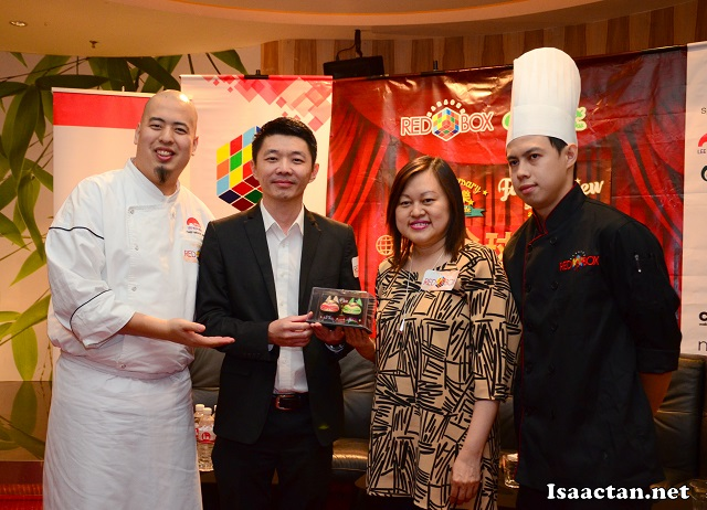 Celebrity Chef Bruce Lim, with VIPs from Red Box