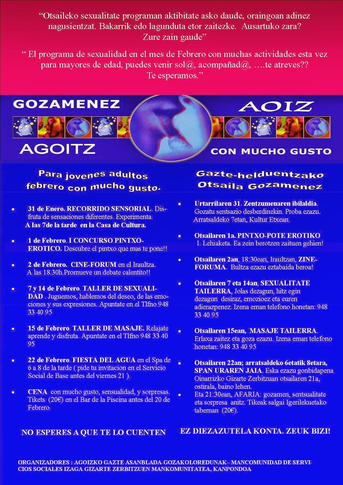 Actividades Solasean Sexología, Pamplona, Navarra, Gozamenez