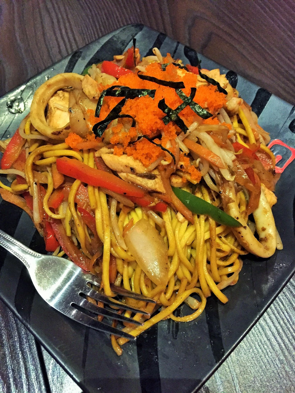Sumo San fried noodles at Sumo San, Sheffield