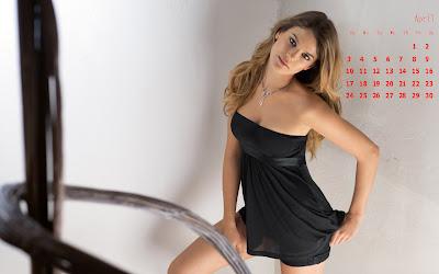 april sexy girl calendar hd