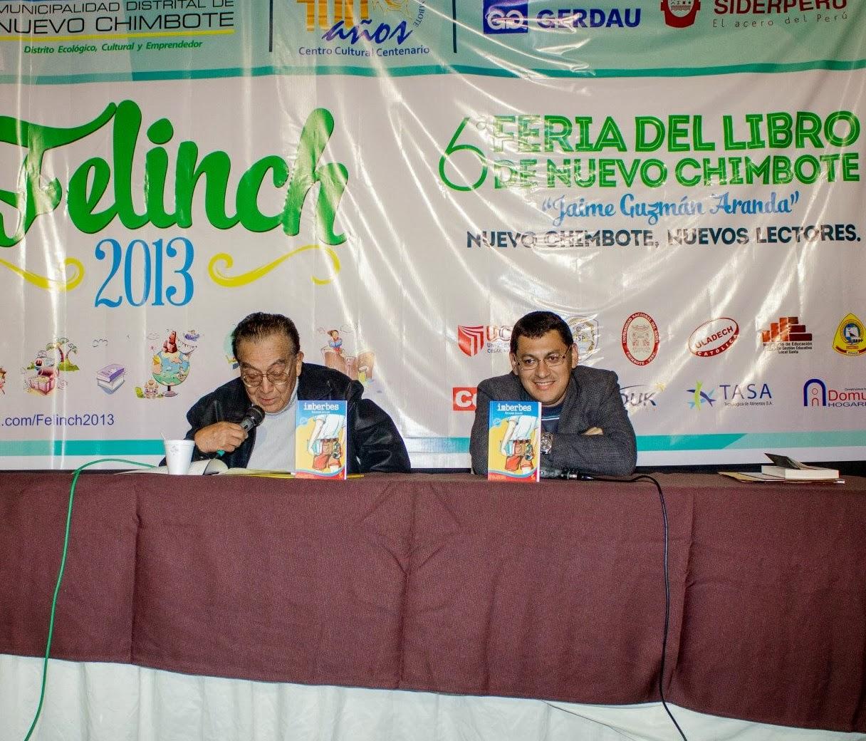 PRESENTACIÓN DE IMBERBES. FERIA DEL LIBRO DE NUEVO CHIMBOTE