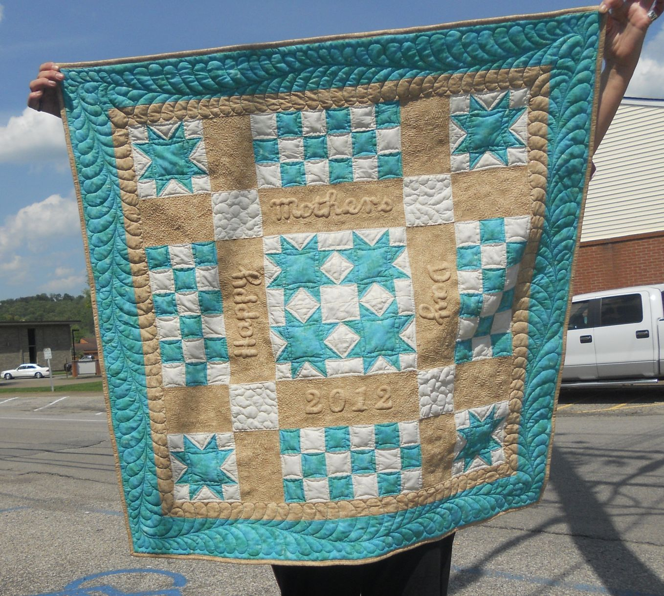 Katie's Quilts and Crafts: Beach-themed Mother's Day Quilt : beach themed quilt patterns - Adamdwight.com