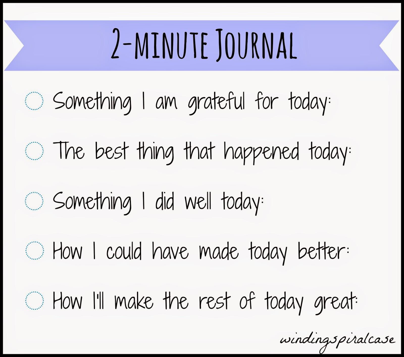 diy 5 minute journal