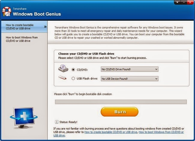 Tenorshare Windows Boot Genius 2014 Crack Free Download