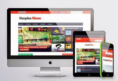 Simplex Nano - Template Responsive untuk Blog Majalah Berita