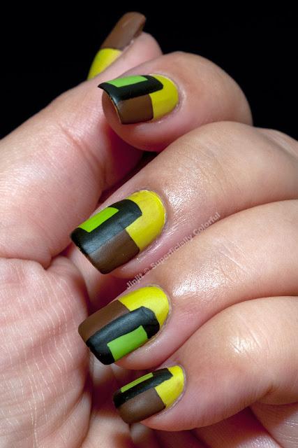 Zoya Mitzi matte velvet tape manicure