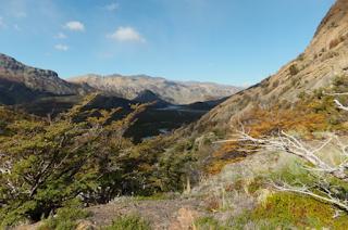 Patagonia Argentina - mountainous wilderness in autumn El Chalten