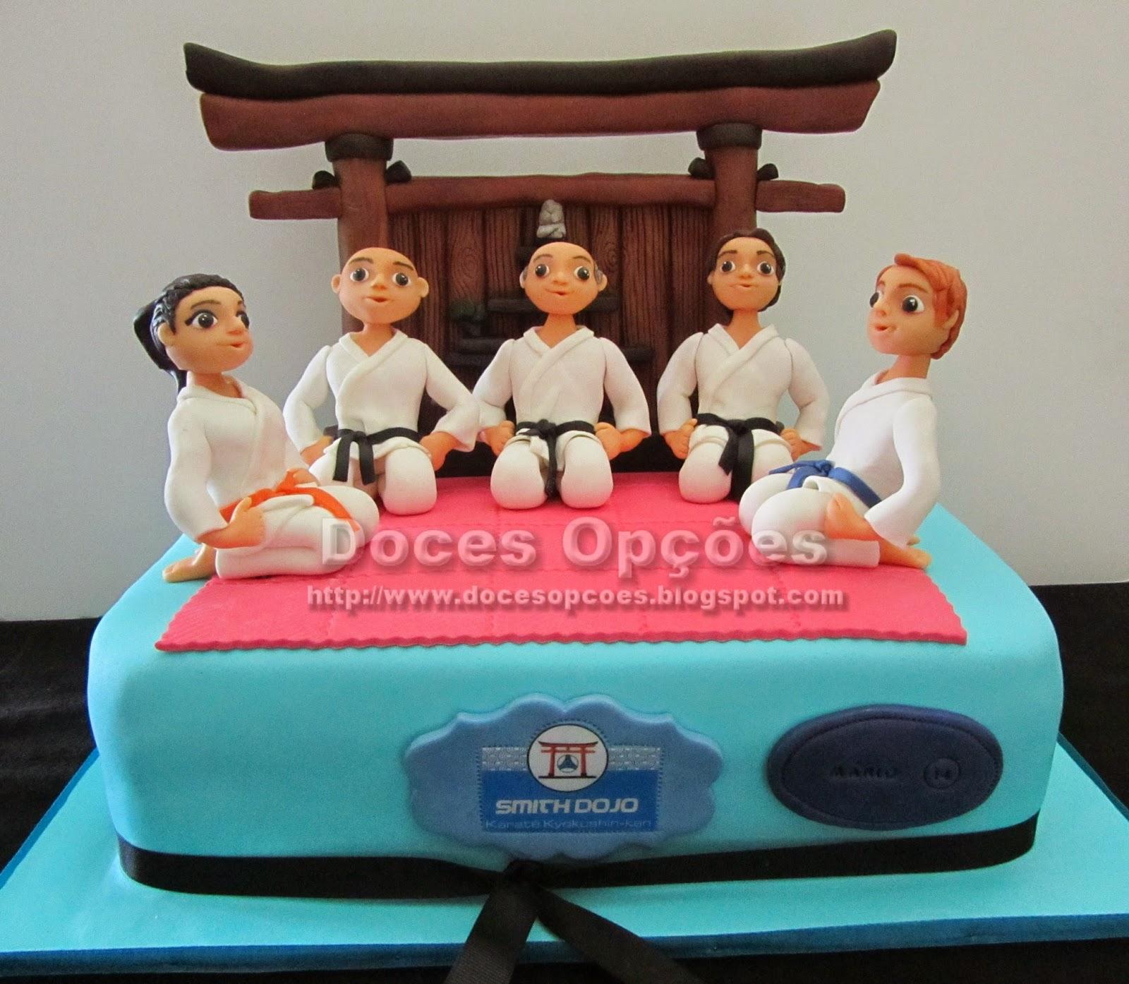 Bolo de aniversário de atletas da Smith Dojo - Escola de Karaté Kyokushin-kan