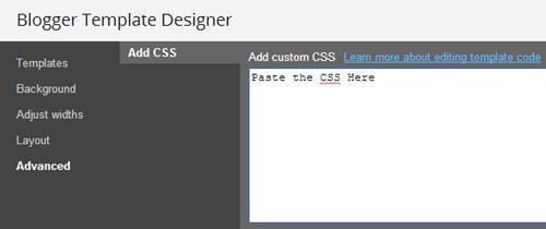 Paste CSS
